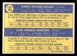 1970 Topps #109   -  Garry Jestadt / Carl Morton Expos Rookies Back Thumbnail