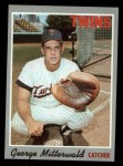 1970 Topps #118  George Mitterwald  Front Thumbnail
