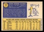 1970 Topps #127  Joe Coleman  Back Thumbnail