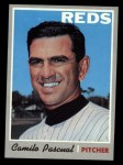 1970 Topps #254  Camilo Pascual  Front Thumbnail