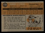 1960 Topps #198  Jerry Lynch  Back Thumbnail