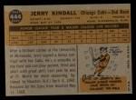 1960 Topps #444  Jerry Kindall  Back Thumbnail