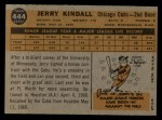 1960 Topps #444  Jerry Kindall  Back Thumbnail
