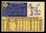 1970 Topps #295  Cecil Upshaw  Back Thumbnail