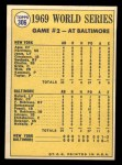 1970 Topps #306   -  Donn Clendenon 1969 World Series - Game #2 - Clendenon's HR Breaks Ice Back Thumbnail