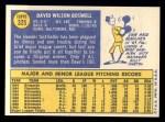 1970 Topps #325  Dave Boswell  Back Thumbnail