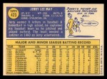 1970 Topps #423  Jerry May  Back Thumbnail