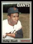 1970 Topps #425  Bobby Bonds  Front Thumbnail