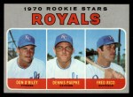 1970 Topps #552   -  Don O'Riley / Dennis Paepke / Fred Rico Royals Rookies Front Thumbnail