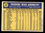 1970 Topps #562  Ted Abernathy  Back Thumbnail