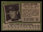 1971 Topps #97  Floyd Wicker  Back Thumbnail