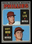 1970 Topps #56   -  Joe Lis / Scott Reid Phillies Rookies Front Thumbnail