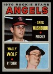 1970 Topps #74   -  Greg Washburn / Wally Wolf Angels Rookies Front Thumbnail