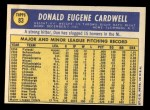 1970 Topps #83  Don Cardwell  Back Thumbnail