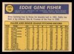 1970 Topps #156  Eddie Fisher  Back Thumbnail