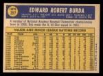 1970 Topps #357  Bob Burda  Back Thumbnail
