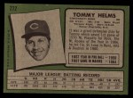1971 Topps #272  Tommy Helms  Back Thumbnail