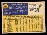 1970 Topps #527  Don Bosch  Back Thumbnail