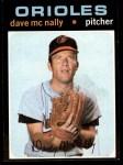 1971 Topps #320  Dave McNally  Front Thumbnail