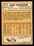 1968 Topps #581  Garry Roggenburk  Back Thumbnail