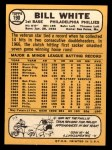 1968 Topps #190  Bill White  Back Thumbnail