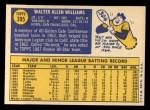 1970 Topps #395  Walt Williams  Back Thumbnail