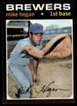 1971 Topps #415  Mike Hegan  Front Thumbnail