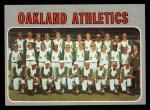 1970 Topps #631   Athletics Team Front Thumbnail