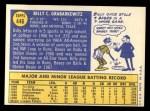 1970 Topps #446  Billy Grabarkewitz  Back Thumbnail