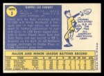1970 Topps #3  Darrel Chaney  Back Thumbnail