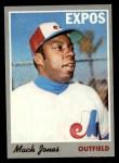 1970 Topps #38  Mack Jones  Front Thumbnail