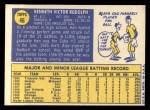 1970 Topps #46  Ken Rudolph  Back Thumbnail