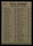 1971 Topps #64   -  Johnny Bench / Tony Perez / Billy Williams NL RBI Leaders   Back Thumbnail