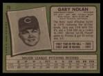 1971 Topps #75  Gary Nolan  Back Thumbnail