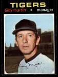 1971 Topps #208  Billy Martin  Front Thumbnail