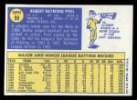 1970 Topps #99  Bobby Pfeil  Back Thumbnail
