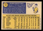 1970 Topps #145  Rico Carty  Back Thumbnail