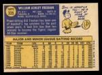 1970 Topps #335  Bill Freehan  Back Thumbnail
