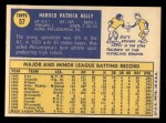 1970 Topps #57  Pat Kelly  Back Thumbnail