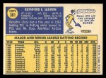 1970 Topps #301  Chico Salmon  Back Thumbnail