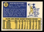 1970 Topps #325  Dave Boswell  Back Thumbnail
