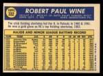 1970 Topps #332  Bobby Wine  Back Thumbnail