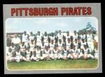 1970 Topps #608   Pirates Team Front Thumbnail