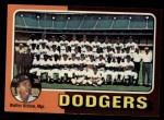 1975 Topps #361   -  Walter Alston Dodgers Team Checklist Front Thumbnail