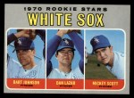 1970 Topps #669   -  Bart Johnson / Dan Lazar / Mickey Scott White Sox Rookies Front Thumbnail
