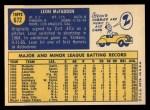 1970 Topps #672  Leon McFadden  Back Thumbnail