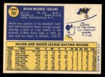 1970 Topps #707  Kevin Collins  Back Thumbnail