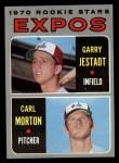 1970 Topps #109   -  Garry Jestadt / Carl Morton Expos Rookies Front Thumbnail