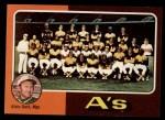 1975 Topps #561   -  Al Dark Athletics Team Checklist Front Thumbnail