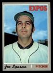 1970 Topps #243  Joe Sparma  Front Thumbnail